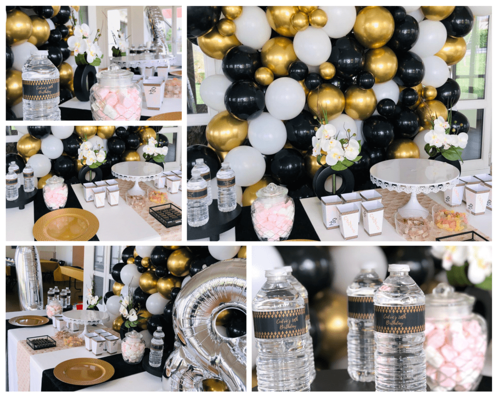 Sweet table black & gold